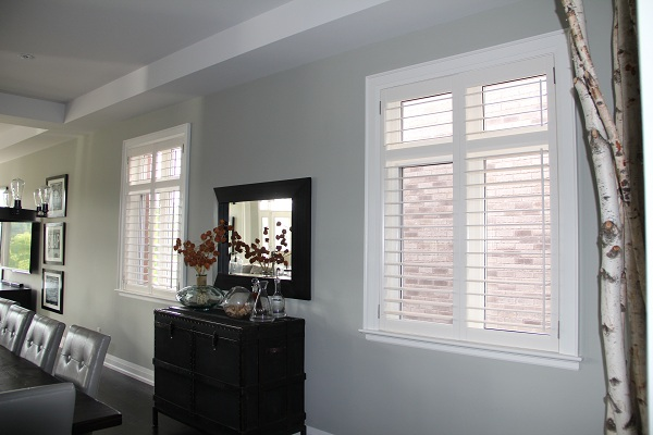 Plantation Shutters in New Dining Room Windows