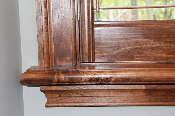 Stained California Shutters in New Oakville Mansion