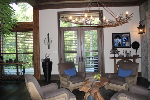 Stained California Shutters in New Oakville Mansion on Lakeshore